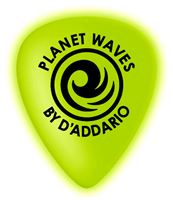 Picture of PLANET WAVES 1CCG2-10 Plettro in celluloide fosforescente 0.50mm (Conf. 10 plettri)