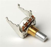 Picture of Potentiometer 16mm, Audio snap-in with bracket, Solid Shaft, PC mount 100K
