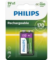 Picture of Batteria Ricaricabile 9V 170mA Ni-MH Philips Multilife 9VB1A17/10