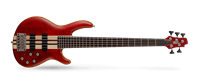Picture of CORT ARTISAN A5 PLUS FMMH OPBC Open Pore Black Cherry basso elettrico 5 corde