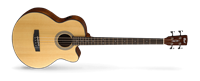 Picture of CORT SJB5F W/BAG NS Natural Satin basso acustico elettrificato con fodero