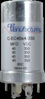 Immagine di CE Mfg. 4x 40uF 350V 35x65mm Condensatore elettrolitico
