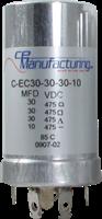 Immagine di CE Mfg. 3x30uF+10uF 475V 35x65mm Condensatore elettrolitico