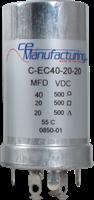 Immagine di CE Mfg. 500V 40/20/20µF 35x65mm Condensatore elettrolitico