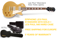 Picture of EPIPHONE LES PAUL STANDARD 2015 Metallic Gold (MG) + HARD CASE Epiphone 940