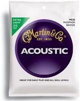 Immagine di MARTIN M530 Extra Light Muta di corde per acustica fosforo