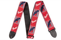 "Picture of 0990682000 Fender 2"" Monogrammed Strap Red/White/Blue"