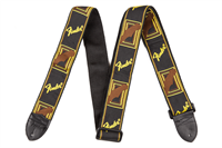 "Picture of 0990682000 Fender 2"" Monogrammed Strap Black/Yellow/Brown"