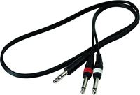Picture of ROCKCABLE RCL 20921 D4 Cavo Professionale Spinotto Stereo 6,3mm / 2 Spinotti 6,3mm 1 metro