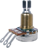 Picture of BOURNS Potentiometer 17mm 500K LOG long split shaft for guitar
