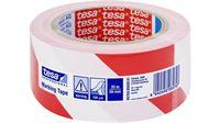 Immagine di TESA tesaflex® 60760 PV1 Nastro per segnalazione autoadesivo BIANCO/ROSSO