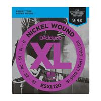 Immagine di D'ADDARIO ESXL120 Nickel Super Light Double BallEnd 9-42 Steinberg strings