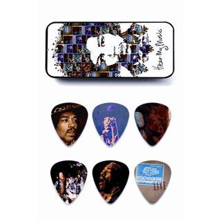 Picture of Dunlop JH-PT07-M Hear My Music Jimi Hendrix Scatola di latta con 6 plettri