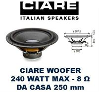 "Picture of CIARE HW251 WOOFER 10"" 250mm 8 ohm 240W"