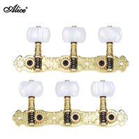 Immagine di ALICE A0S-022V1P Set di meccaniche per chitarra classica - dorate con inserti neri