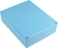Picture of Chassis Box - Diecast Aluminum, Colored LIGHT BLUE
