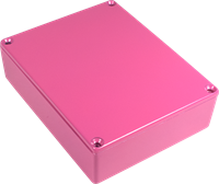 Picture of Chassis Box - Diecast Aluminum, Colored HOT PINK