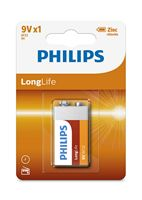 Picture of Batteria 9V Philips LongLife 6F22/9V