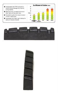 Immagine di Graph Tech Black TusQ XL PT-1412-00 - Capotasto per basso 5 corde con spaziatura