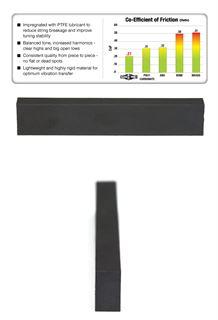 Immagine di Graph Tech Black PT-4025-00 - Capotasto non modellato - 1/4''