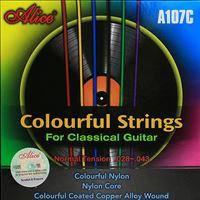Immagine di ALICE A107C Muta di corde colorate per chitarra classica