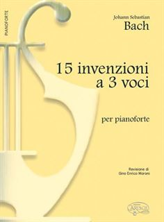 Immagine di 15 Invenzioni a 3 Voci, per Pianoforte - J. S. Bach - Carisch