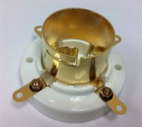 Picture of U4J tube socket for 211, 845 ceramic GOLD